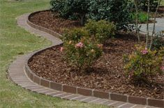 Simple Front Yard Landscaping Ideas | Landscape| Landscape edging brick with leftover bricks from the house so they match! Description from pinterest.com. I searched for this on bing.com/images