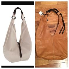 🆕 NWT Leather large shoulder hobo Brand new leather hobo with braided shoulder straps and braid detail at arm. Goes with anything luggage brown color. Magnet closure, roomy inside with zip pocket, hook, and area for smart phone. Stock photo appears to show braid detail over middle, this bag the braid is attached up by the shoulder strap and cannot be moved. Kenneth Cole Bags Hobos