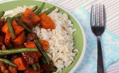Pompoenstoofpot met tofu en cashewnoten