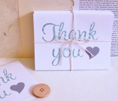 Cut the Cake Designs — Thank You Love - Note Cards