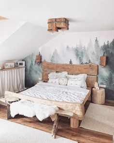 Best Bedroom Decor And Design Ideas With Farmhouse Style 50 + Beste Schlafzimmer Dekor und Desig Wood Bedroom, Baby Bedroom, Bedroom Furniture, Bedroom Decor, Bedroom Ideas, Room Baby, Bedroom Rustic, Bedroom Small, Small Rooms