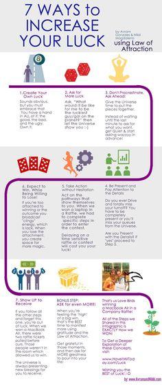 7 Ways To Increase your Luck. #lawofattraction #thesecret #abundance