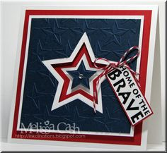 INKclinations: Happy Fourth!  Stars cut with Silhouette, sentiment from Our Craft Lounge Star Spangled set.