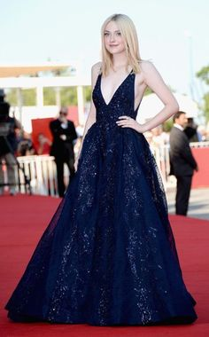 Dakota Fanning wows in this Elie Saab stunner at the 2013 Venice International Film Festival. #fashion