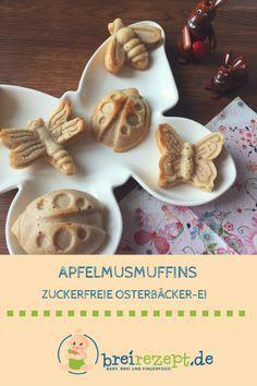 Apfelmusmuffins ohne Zucker sind ein toller Snack für das Breifrei-Baby und eignen sich ab dem 6. Monat als Knabberei zum Frühstück oder zwischendurch: https://www.breirezept.de/rezept_kleine_apfelmusmuffins_mit_zimt.html
