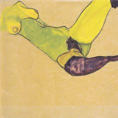 Reclining female nude with violet stockings, 1910, by Egon Schiele #egonschiele #egonschieleswomen #schiele #radical #artist #art #painting