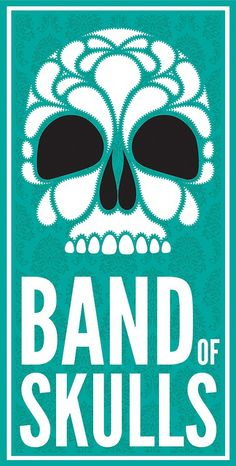 BAND of SKULLS #poster by Beale Illustration -  THIS BAND is HOT! Best experienced live because their stage show is amazing......belly and fan dancers, dancing and more.