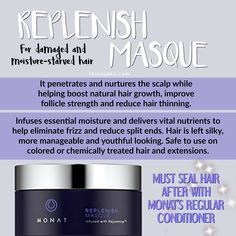 Monat's Replenish Masque | Monat Hair care | Damaged Hair | Dry hair | Brittle Hair | Color Treated Hair | All Natural | Natural | Good for your hair | Hydrate | Scalp | Nurture | Reduce Split Ends | www.thisisjaky.com