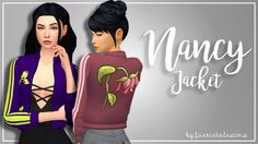 Nancy Jacket omg what? faerietalesims made custom content? for the first time in months? I sure did fellas. When I saw @leeleesims1's Spare Me Jacket, not only did I know it was a piece of cc I would...
