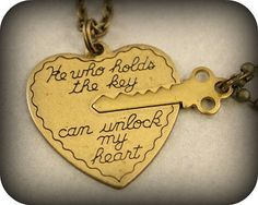Puzzle Piece Couple Jewelry - These Key & Heart Necklaces are Perfect Anniversary Gifts