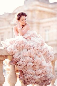gorgeous blush wedding gown