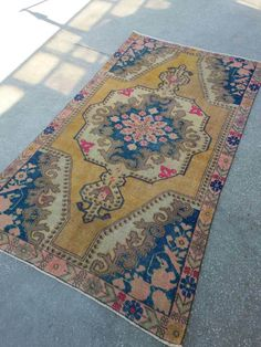 5189inches Vintage Rug Oushak Rugs Area by interiordesigner42