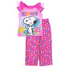 Peanuts Snoopy Girls Pink Poly Pajamas #SnoopyPajamas #GirlsPajamas #PeanutsPajamas #CharacterPajamas #TheFunStartsHere #YTB