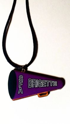 Customize for your school Personalized+Handmade+Cheerleader+Necklace+by+sherrollsdesigns,+$10.99