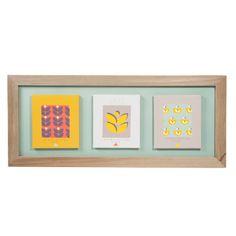 Tableau triple en bois 30 x 70 cm DESIGN VINTAGE