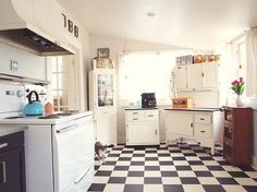 Good furniture storage for apartments light on cabinet space /vintage kitchen
