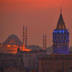 Ah Güzel İstanbul — İstanbul  Byemelmurtezaoglu Travel Around The World, Around The Worlds, Turkish People, Have A Nice Trip, Visit Turkey, Hagia Sophia, Turkey Travel, Dream City, City Landscape