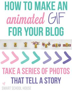 How to Make an Animated GIF for your blog. Little animations catch a lot of attention!  Plus Pinterest now supports animated GIFs!!!