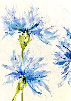 Cornflower - ALS symbol of hope www.susanpepedesigns.com
