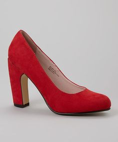 Look what I found on #zulily! Red Melody Pump by Bellini #zulilyfinds