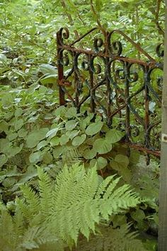 Lovely old garden gate. I love old gates and am on the hunt for a few to place around our gardens Old Garden Gates, Old Gates, Garden Doors, Garden Fencing, Garden Paths, Garden Art, Iron Gates, Rusty Garden, Modern Garden Design