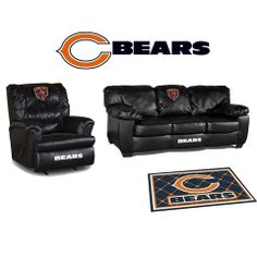 Use this Exclusive coupon code: PINFIVE to receive an additional 5% off the Chicago Bears Leather Furniture Set at SportsFansPlus.com
