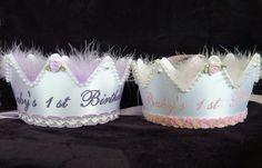 Babys First Birthday Crowns