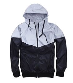 f4cddba6d4e5e3 Mens Outerwear 3M Reflective Running Jacket Asian XLUS M Gray     Find out  more