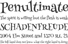 Henny Penny Font Phrases
