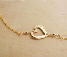Sideways Heart Necklace....simple and sweet.