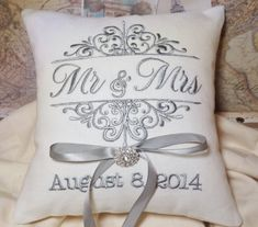 Hey, I found this really awesome Etsy listing at https://www.etsy.com/listing/197453474/ring-bearer-pillow-mr-and-mrs-ring