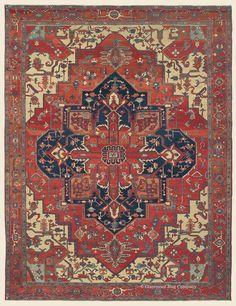 "SERAPI, Northwest Persian Antique Rug  9' 10"" x 13' 0"" — Circa 1900- Claremont Rug Company"