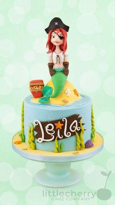 mermaid pirate cake