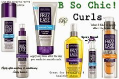 John Frieda's new Frizz Ease collection for curly heads.