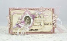 A wonderful tag card by Cathrine, the Scent of Lavender , Pion Design Palette and vintage image from Grandma's Attic - French Ladies