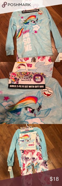 My little pony pajamas Two piece set with gift bag My Little Pony Pajamas Pajama Sets