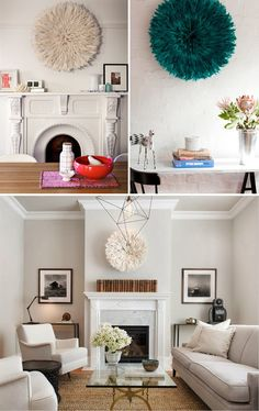 Love this trend: African juju hats (Especially love the bottom living room space)