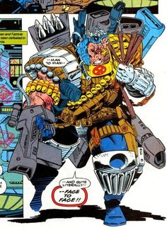 Cable, X-Cutioner's Song, X-Men, Marvel Comics Comic Book Pages, Comic Book Artists, Comic Books Art, Comic Art, Comic Book Costumes, Cable Marvel, Crazy Toys, The New Mutants, Arte Cyberpunk