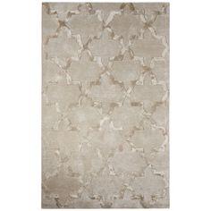 "Willa Arlo Interiors Avery Hand-Tufted Trellis Gray Area Rug Rug Size: 9'6"" x 13'6"""