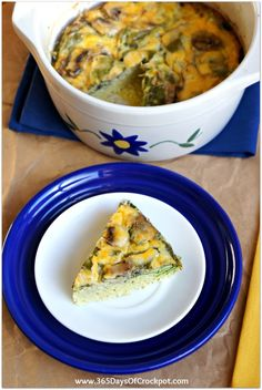 Recipe for Slow Cooker Spinach and Mushroom Frittata #eggs #brunch #slowcooker #crockpotrecipe