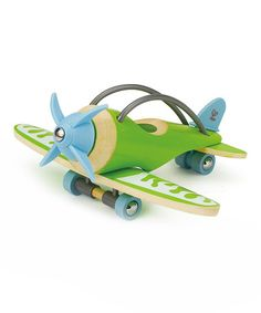 Love this Bamboo Plane Toy by Hape Toys on #zulily! #zulilyfinds
