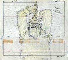 biker akira frame cel animation sketch drawing mask reflection pencil
