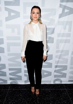 """Fabulously Spotted: Saoirse Ronan Wearing Laura Basci - MoMa Film's The Contenders Screening of """"Brooklyn"""" - http://www.becauseiamfabulous.com/2016/01/18/fabulously-spotted-saoirse-ronan-wearing-laura-basci-moma-films-the-contenders-screening-of-brooklyn/"""