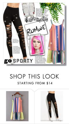 """""""#Romwe"""" by fashion-girl-0 ❤ liked on Polyvore featuring WithChic"""