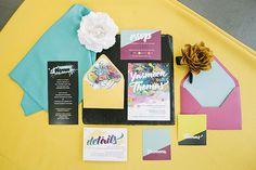 Urban Wedding Stationery - Full feature on www.brideclubme.com
