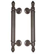 Elegant reed shower door pulls from First Impressions. The FII-SD-810R/8/x are available in lenghts of 8 - 18 Inches,in your choice of 9 different finishes from Doorware.com