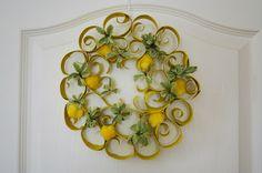 Lemon Wreath TUTORIAL TP Toilet Paper Tube Roll