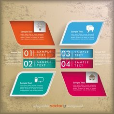 Infographic vintage background design with brown colors.