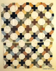 Periwinkle Quilting and Beyond: progress on x and plus quilt