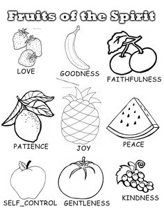 Fruit Of the Spirit Coloring Page Luxury Penny Pinching Mom Fruits Of the Spirit Sunday School Unit Fruit Coloring Pages, Bible Coloring Pages, Coloring Pages For Kids, Coloring Books, Coloring Sheets, Kids Coloring, Coloring Worksheets, Printable Coloring, Colouring